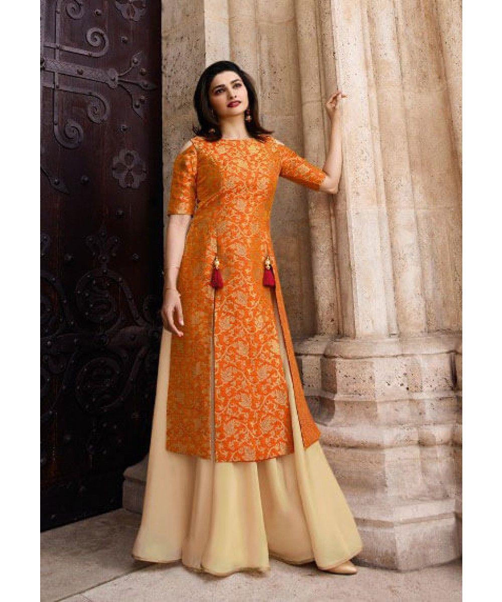 3c114992fe Orange Lacha Lehenga shopping - Exclusive collection of latest Orange Salwar  Kameez online in India, US, UK, Canada. Free shipping in India, ...