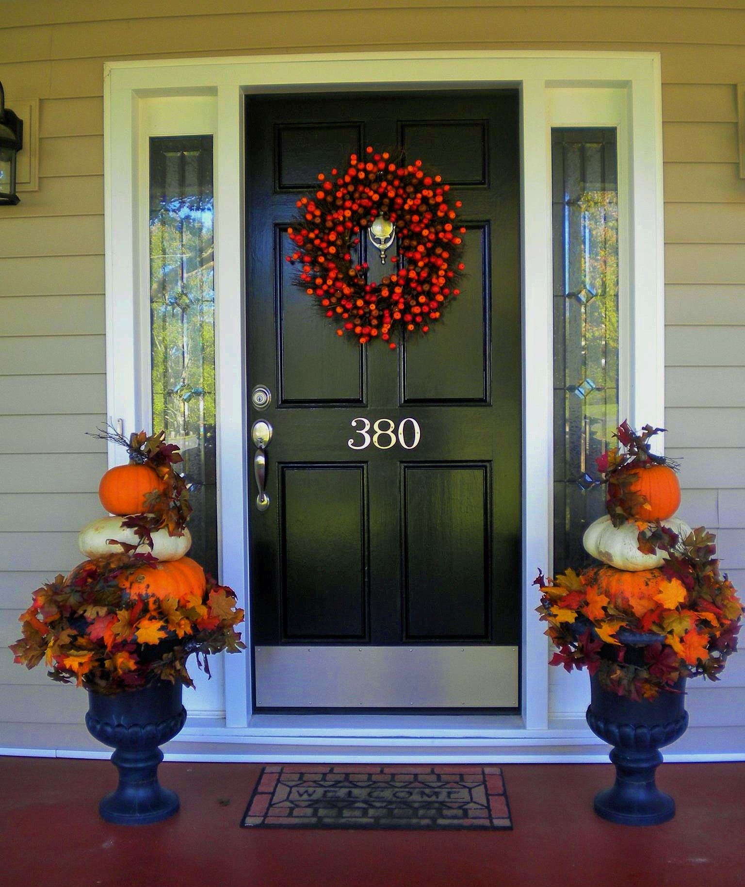 Fall And Pumpkins Black Door Renovation With White