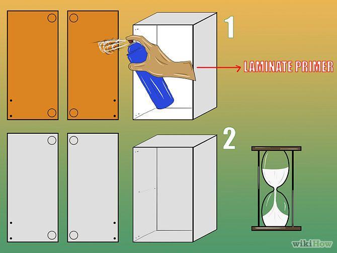 Paint Laminate Cabinets | Must Read | Pinterest | Küchenumbau, Möbel ...