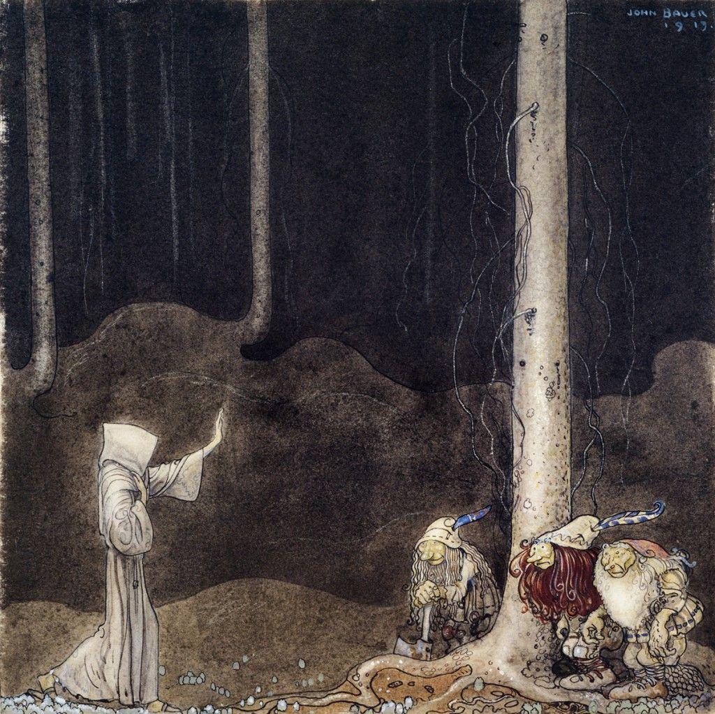 John Bauer Swedish Fairytales Goblin Fantasy Print 3