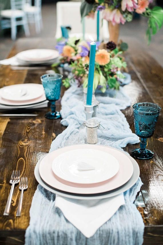 Give your festive table a rustic-elegant look with this natural cream color gauze table runner ! It is unique and elegant for your wedding table, shower, party, or any occasion.  Table runner: To add an extra pop of color to your reception decor, you can use table runners. Runners allow you to combine your wedding colors in interesting, artistic and unexpected ways. Place flower centerpieces and candles on top of the runner as a decorative touch. Size : 192 inches ( 16 feet) length x 35…