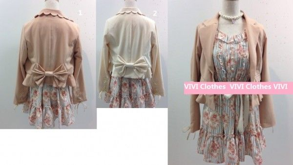 Liz Lisa Cute Blazer Jacket Coat With Big Bow Ribon