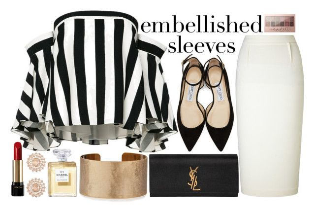 """""""Untitled #215"""" by anotherfashionfatale ❤ liked on Polyvore featuring Jimmy Choo, Milly, Roland Mouret, Yves Saint Laurent, Nam Cho, Panacea, Lancôme and Maybelline"""