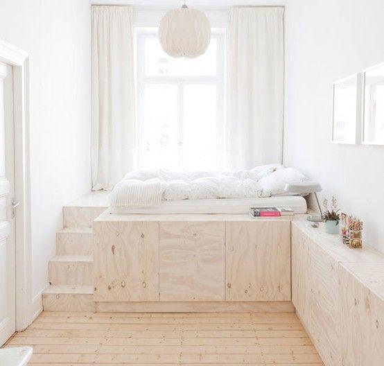 DIY Podest Bed Schlafen Pinterest Podest, Möbel und Bett - wohnideen selbst schlafzimmer machen