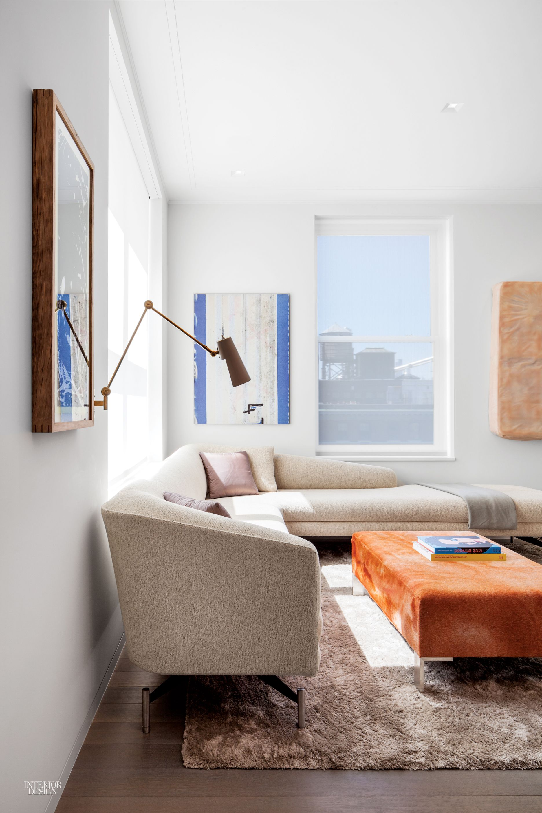 An artfilled nyc duplex by steven harris and lucien rees roberts