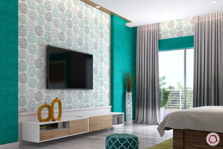 Wallpaper Vs Paint Insider Info You Need To Know Wall Tv Unit Design Wall Painting Decor Living Room Tv Unit Designs