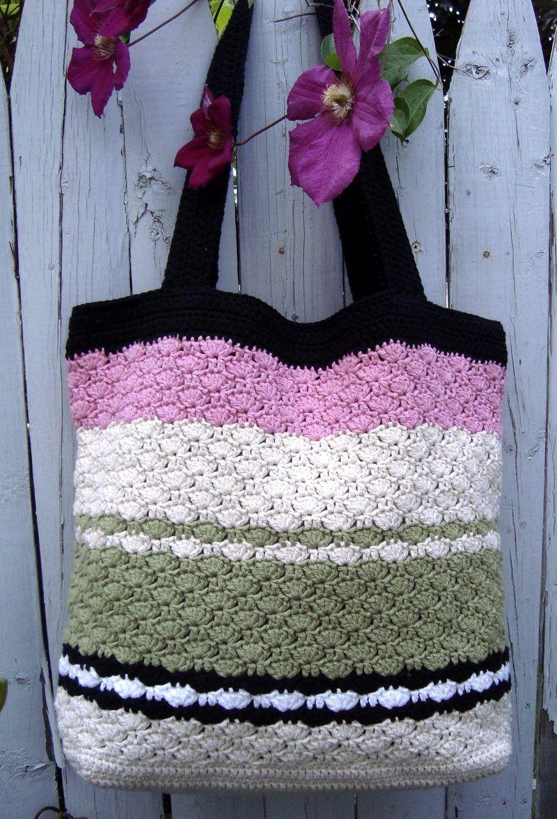 Nice tote bag crochet pattern.