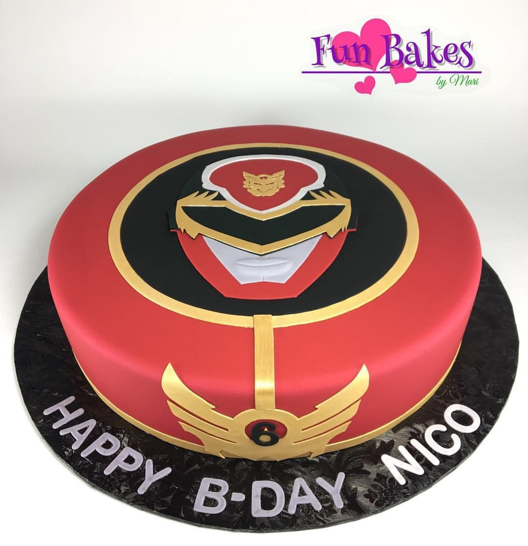 Excellent Super Mega Force Red Power Ranger Birthday Cake Power Rangers Funny Birthday Cards Online Inifodamsfinfo