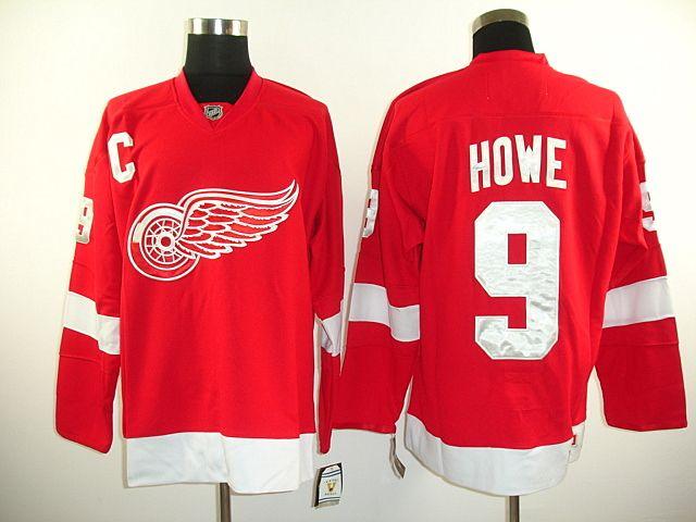 81021af9c82 ... detroit red wings 9 gordie howe ccm vintage hockey jersey red detroit  red wings