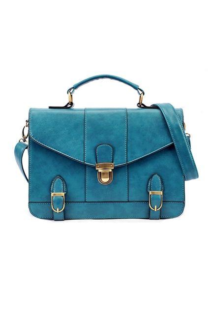 Push Lock Stitched Edged Shoulder Bag