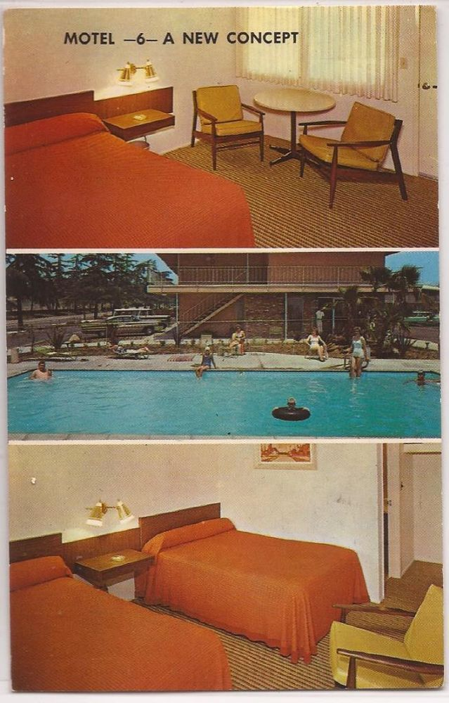 "Rooms: 1967 Motel 6 Postcard ""MOTEL 6"