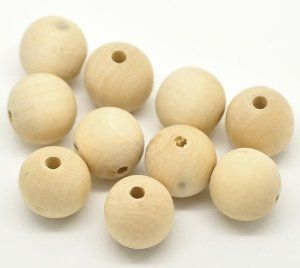Amazon.com: Woodpeckers® Natural Color Round Wood Spacer Beads 20mm(3/4 Inch) (100)