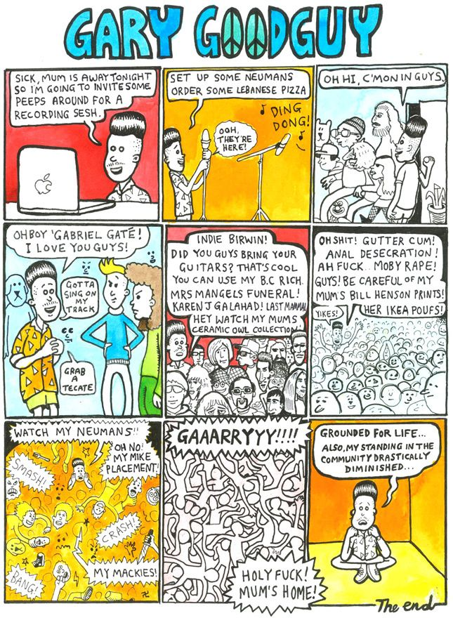 New Gary Good Guy Comic By Ben Montero Sketchbook In Vice Sketch Book Purdy Imagery