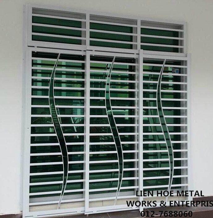 Pin By Rudi Gonzales On Fachada Do Muro Portas Portoes Grade Modern Window Grill Window Grill Design Home Window Grill Design