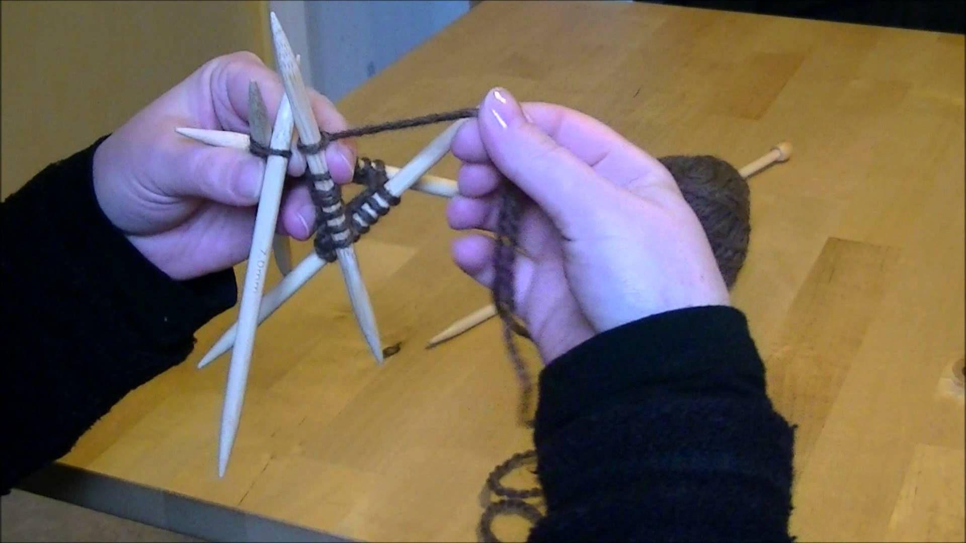 tricoter en rond avec des aiguilles double pointes (avec images) | Tricoter en rond, Comment ...