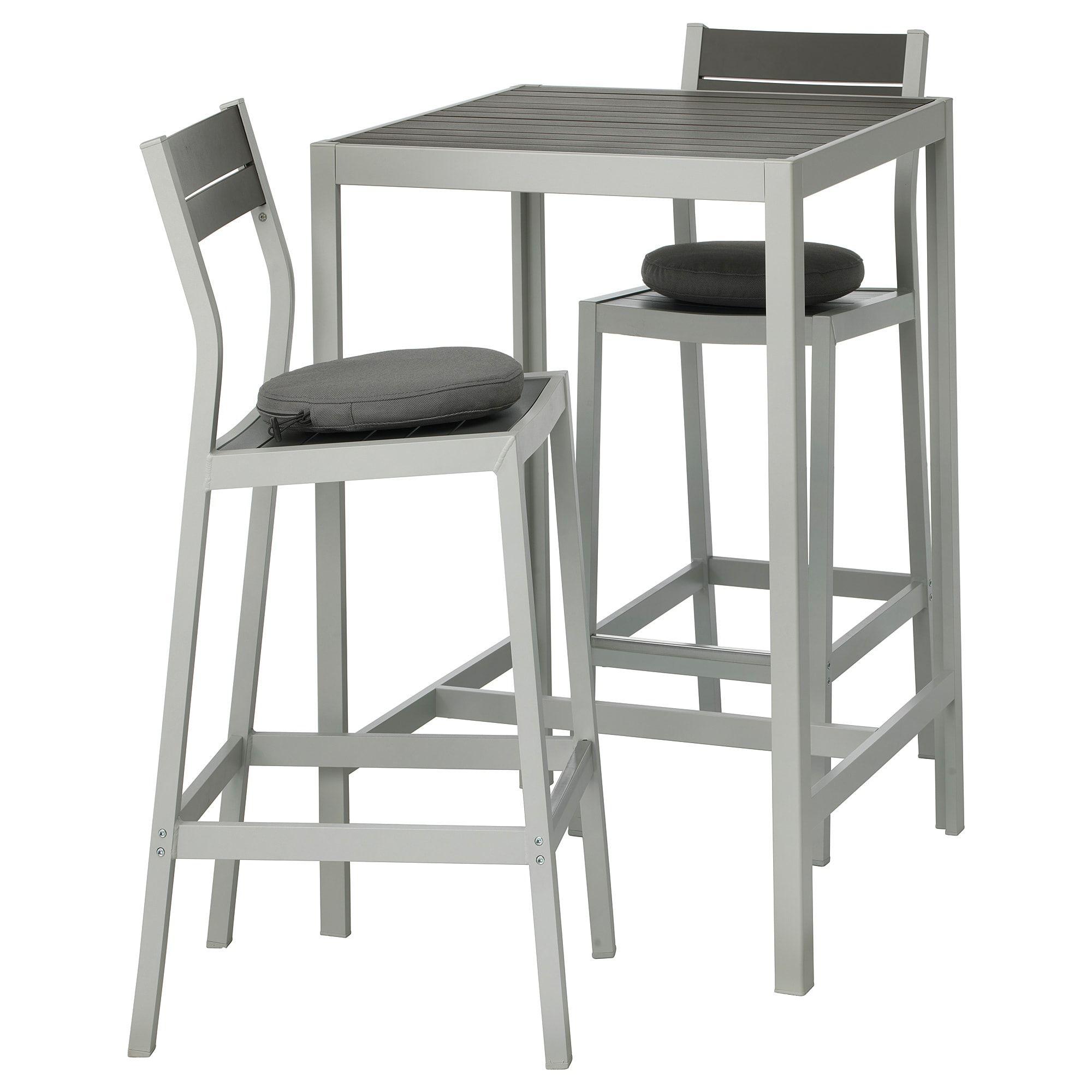 Sjalland Bar Table And 2 Bar Stools Outdoor Dark Gray Froson