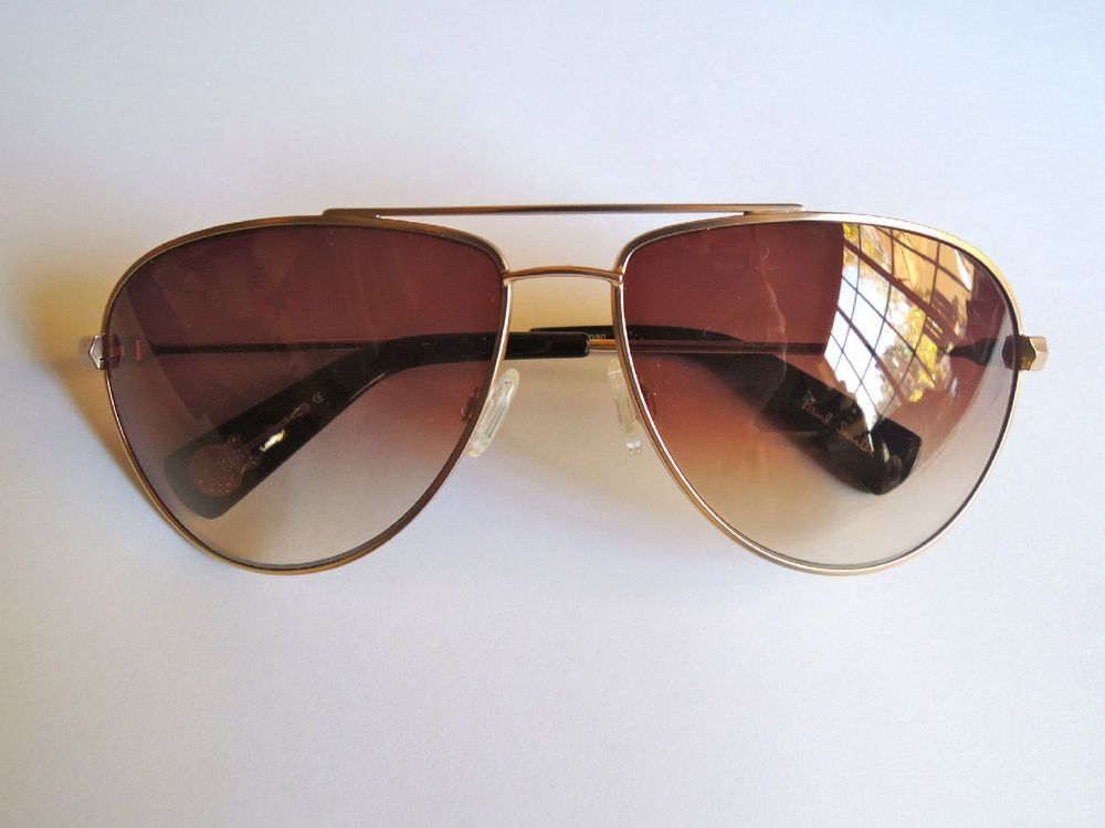 AUTHENTIC PAUL SMITH PS 836 GOLD AVIATOR SUNGLASSES (LOVE