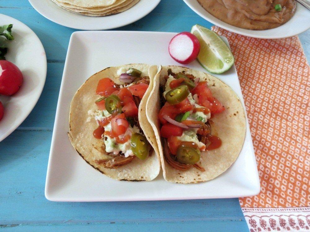 Slow Cooked Carne Asada Tacos #SundaySupper #asadatacos