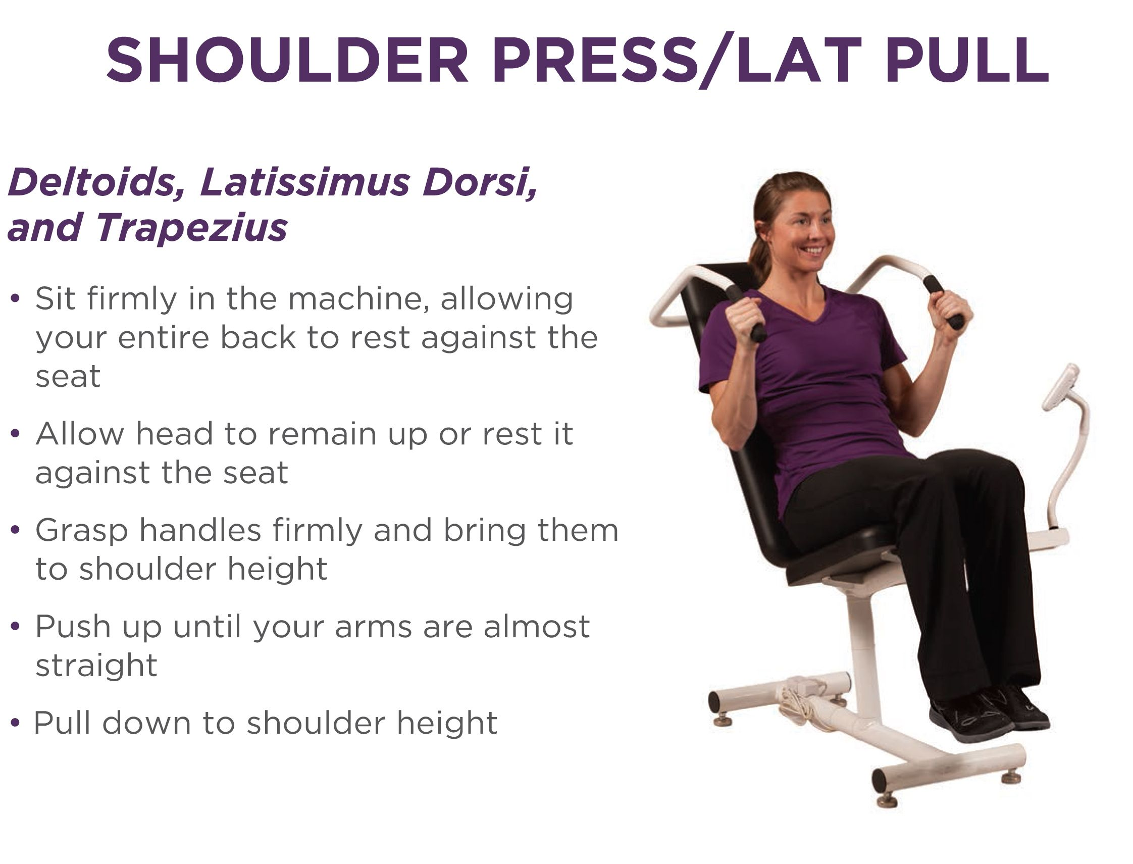 Shoulder Press/Lat Pull | Curves workout
