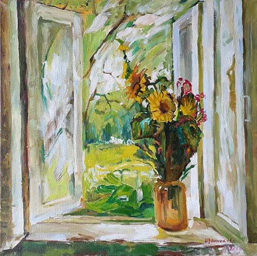 Paintings Of Windows Painting For Sale Window Painting