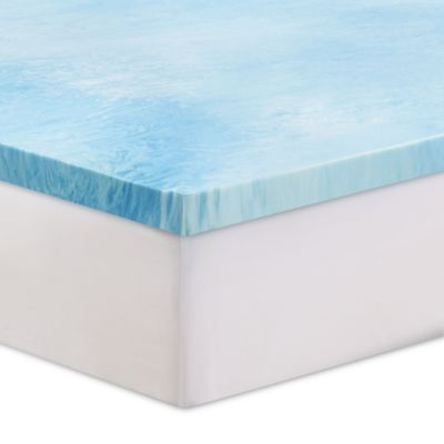 Serta 3 Gel Swirl Memory Foam Twin Mattress Topper Blue Products