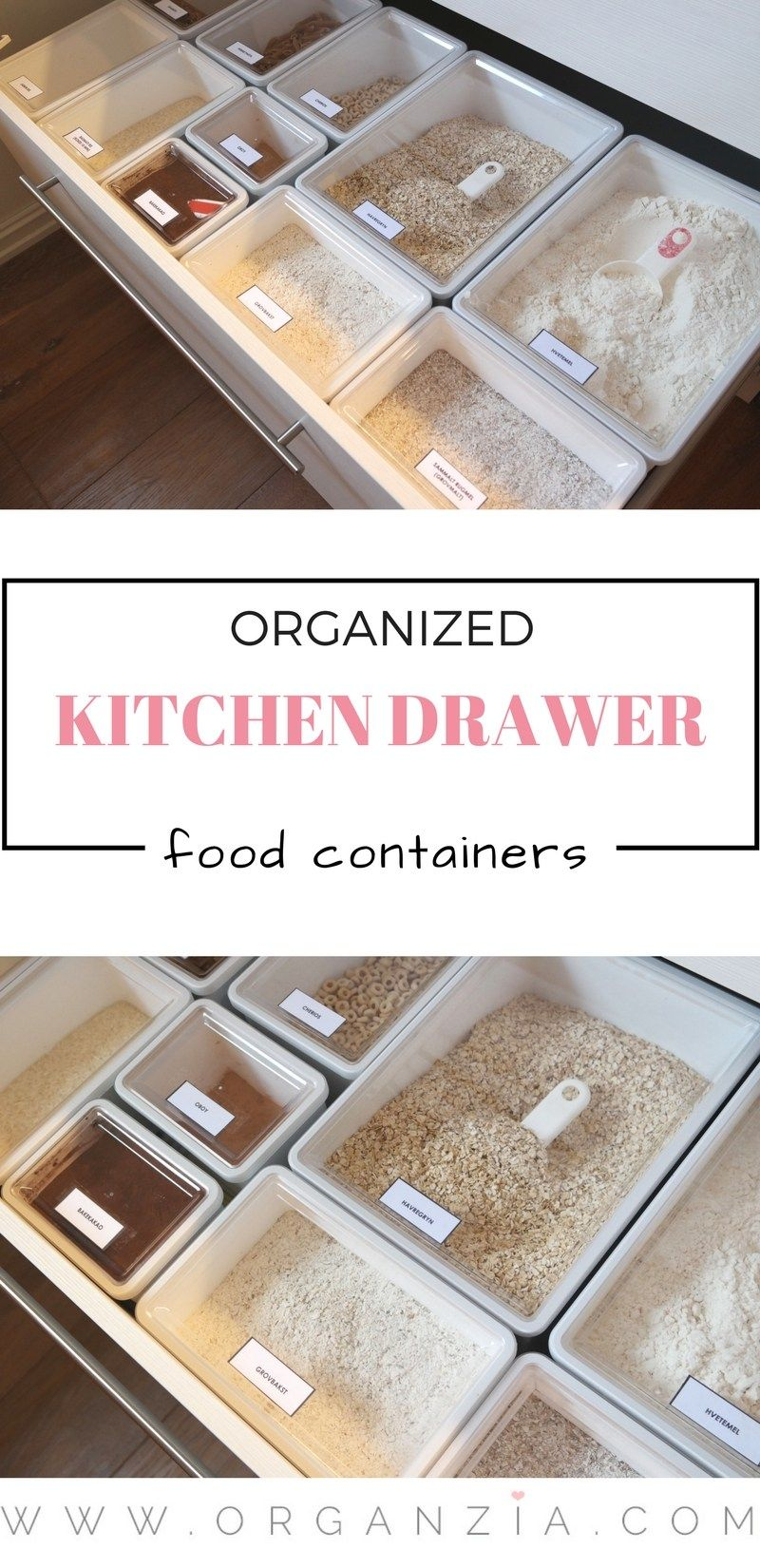 Organized kitchen drawer, finally! #kitchenstorage
