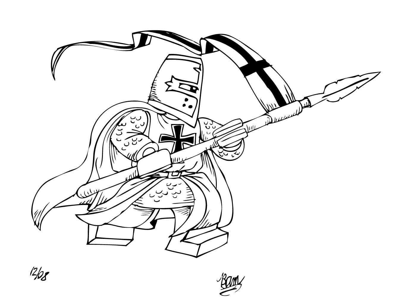 Lego Knight Coloring Pages | Coloring for Kids | Pinterest | Lego ...