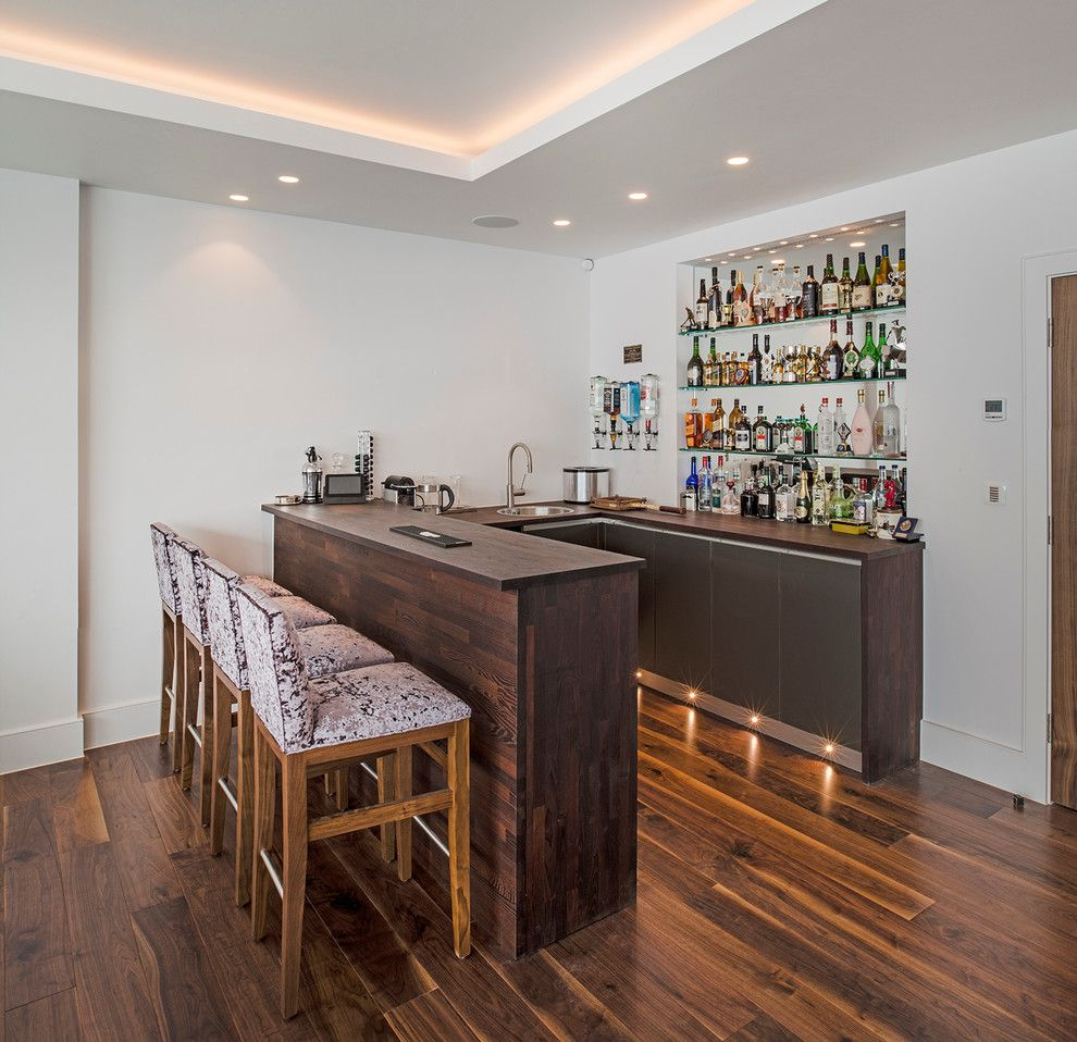 Toe kick lighting home bar contemporary remodeling ideas with ...