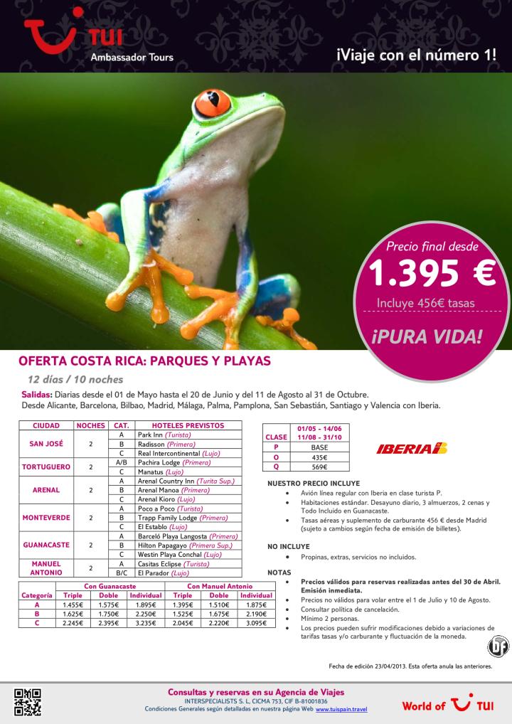 Oferta Costa Rica Parques y Playas. Precio final desde 1.395€ - http://zocotours.com/oferta-costa-rica-parques-y-playas-precio-final-desde-1-395e-3/