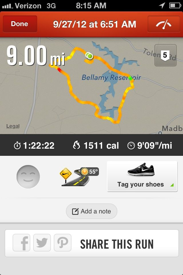 Because 3 months ago I couldn't run a mile straight and now I'm headed towards a half marathon in Feb 2013.