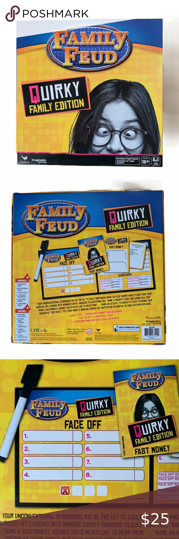 Family Feud Quirky Family Edition Dry Erase Cards in 2020