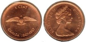1867-1967 Canadian Penny - got one | Coin Collection