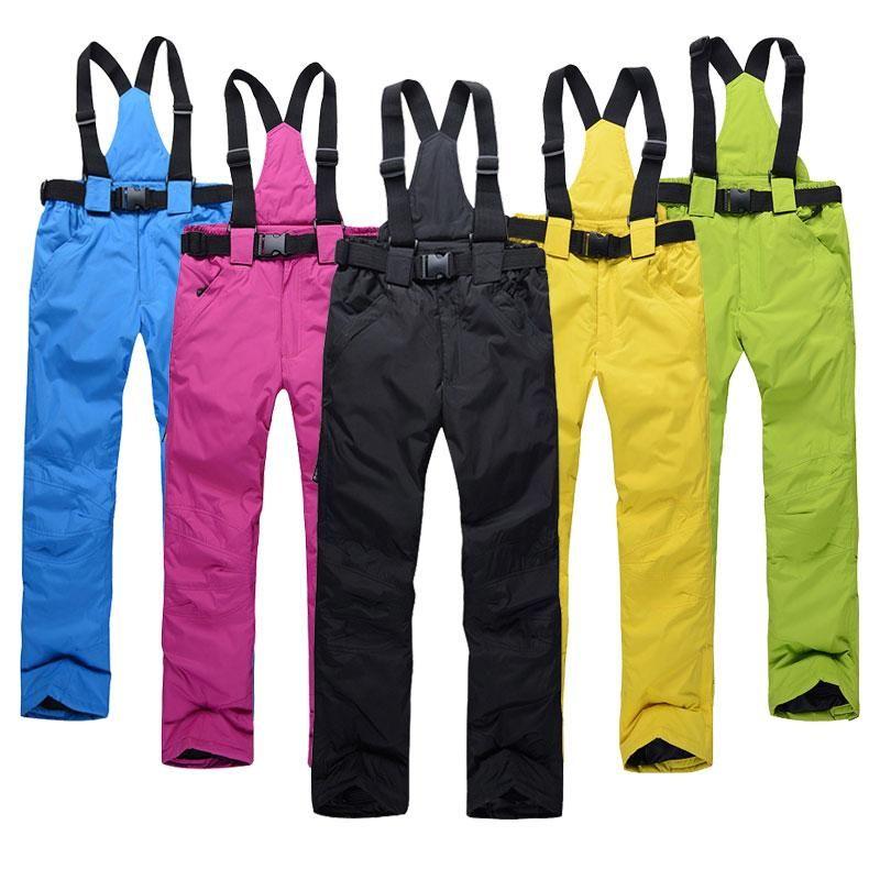 Women Ski Pants Brands New Outdoor Sports High Quality Suspenders Trousers  Men Windproof Waterproof Warm Winter Snow Snowboard 914fbeae7