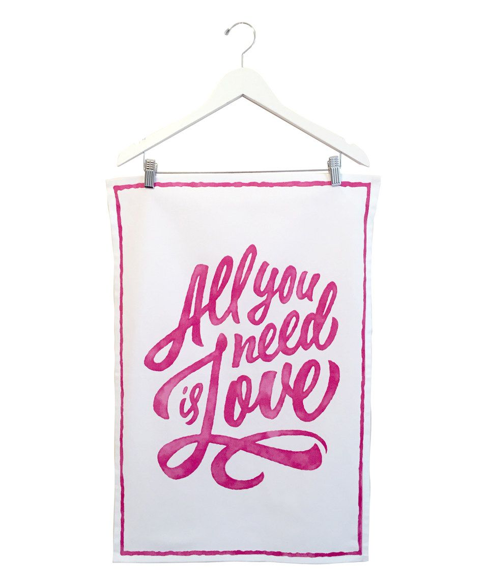 This 'Love' Dish Towel by Simply Whimsical is perfect! #zulilyfinds