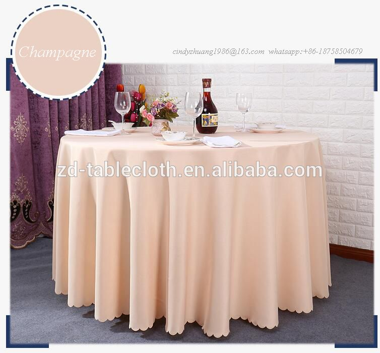 Elegant Polyester Ch&agne Round wedding table cover for Sale & Elegant Polyester Champagne Round wedding table cover for Sale ...