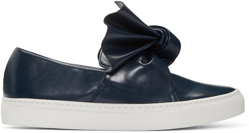 Black Bow Slip-On Sneakers Cedric Charlier WJyKyOd