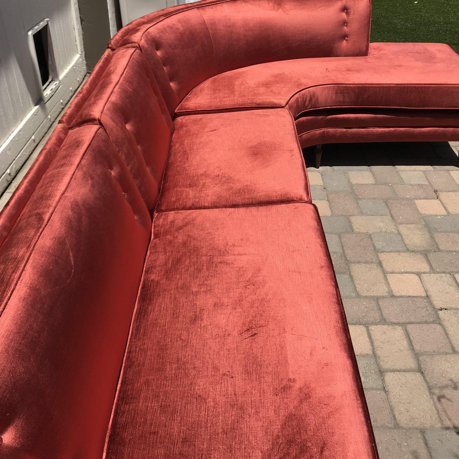 Mid-Century Probber Style Velvet Sectional Sofa in 2020 ...