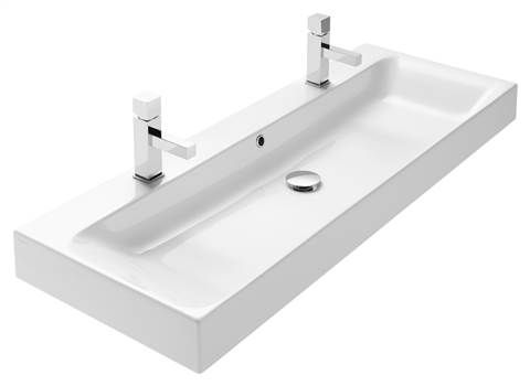 Wastafelmeubel Met Wasbak : Wastafel cm keramiek noa met grote kom badkamer