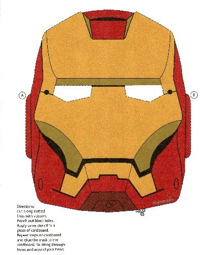 Iron Man Mask Ironman Mask Iron Man Diy Costumes Kids