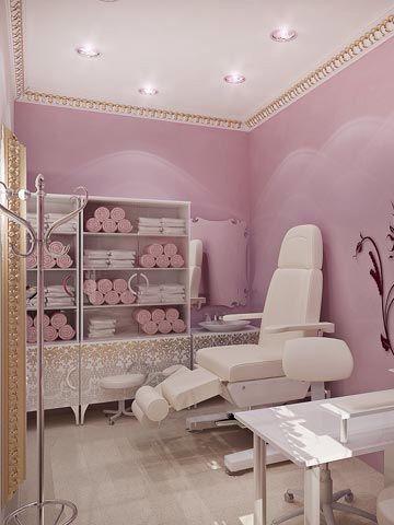 Kosmetikstudio, Behandlungszimmer, Nagelschere, Einrichtung, Dekoration,  Schönheitssalon Design, Schönheitssalons, Nagelzimmer, Kosmetikerin Zimmer