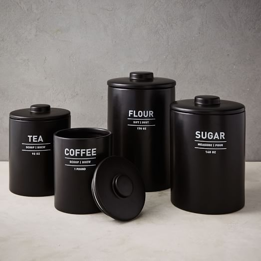 black kitchen canister utility kitchen canisters white in 2020 black kitchen decor kitchen canisters black kitchens 8430