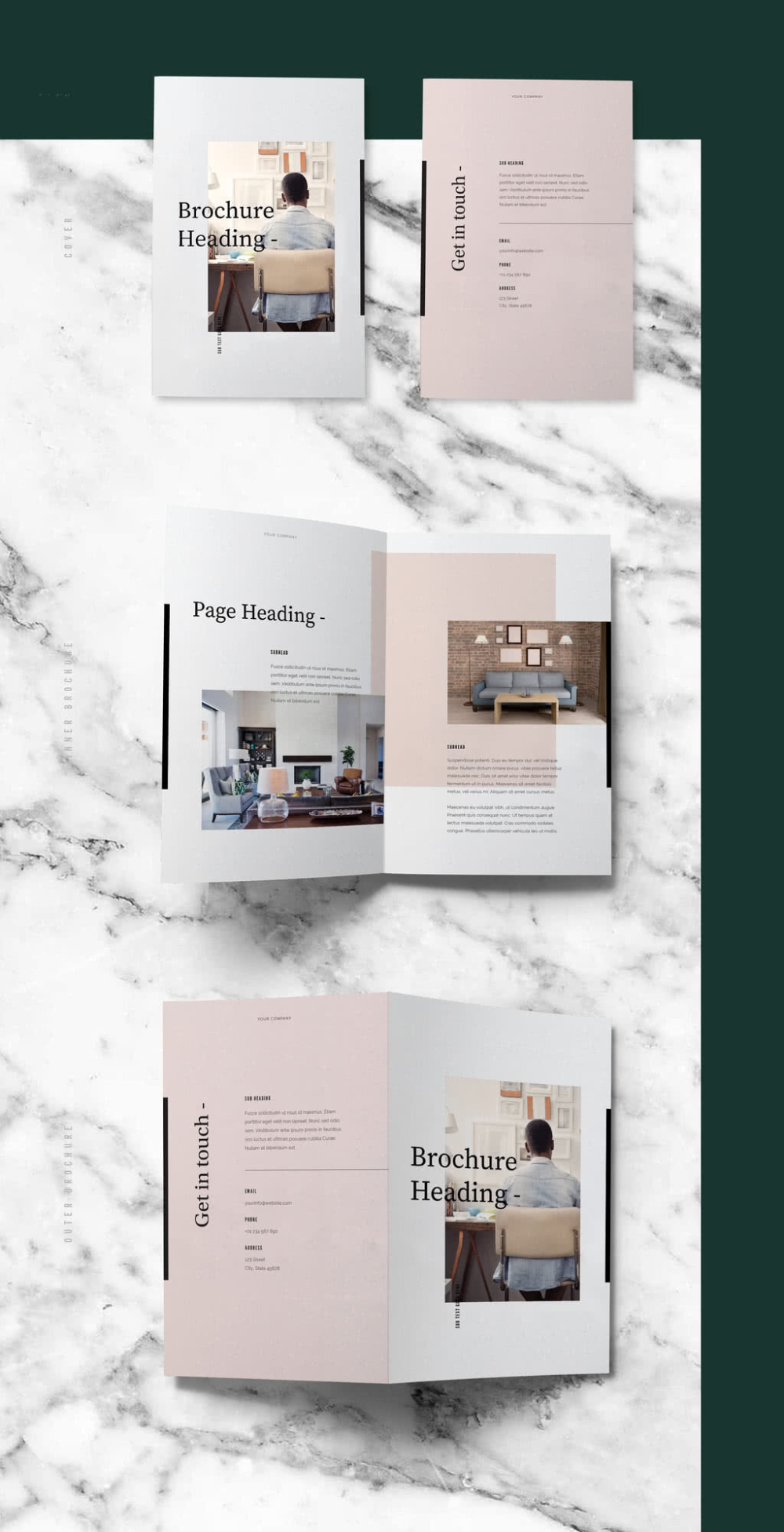 Pastel Brochure Layout. Buy this stock template and explore similar te