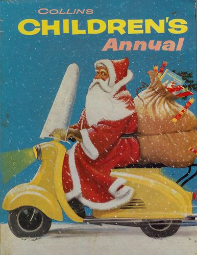 Santa Scooter On Childrens Annual For The Holidays