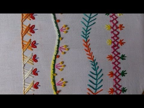 Hand Embroidery Stitches Tutorial For Beginners Part 6 Decorative