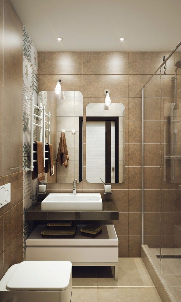 Men's Bathroom Design Minimalist 1 Bedroom Apartment Designed For A Young Man  Bathroom