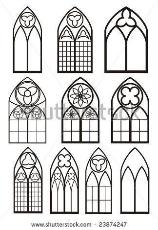 Stock Vector Windows In Gothic Style 23874247 324x470
