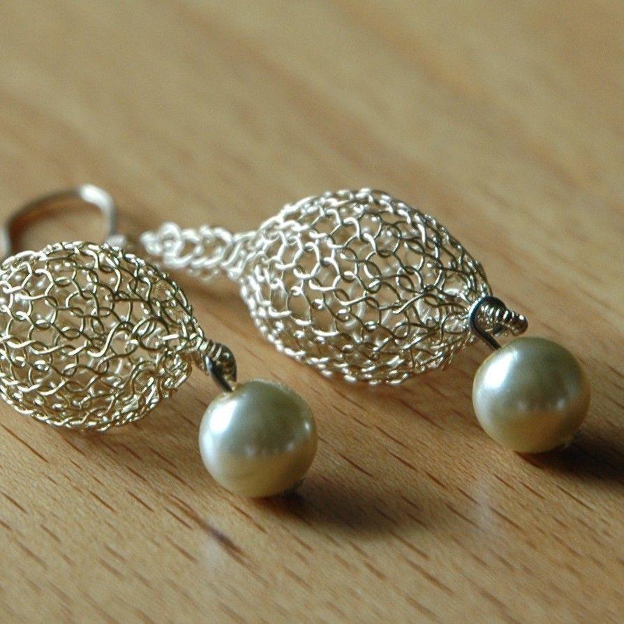 wire Crocheted jewelry | ... Jewelry: YooLaGoldenDrop Earrings ...