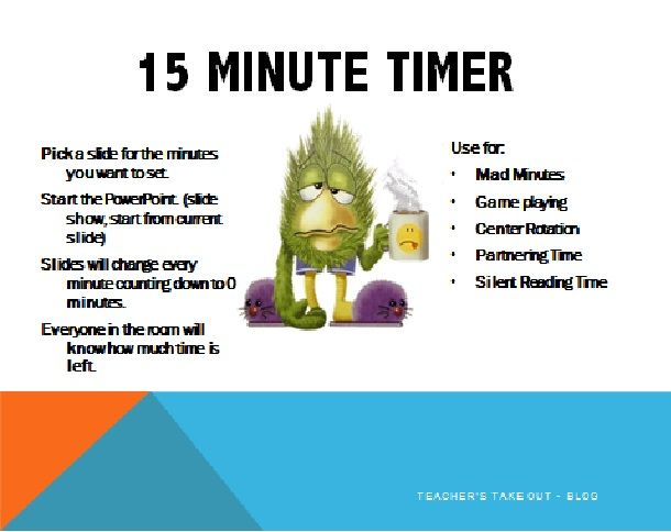 free 15 minute ppt timer get a new slide every minute as powerpoint