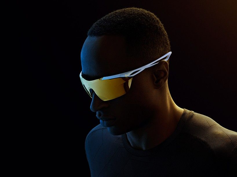 NIKE vision's one piece sunglasses create uninterrupted