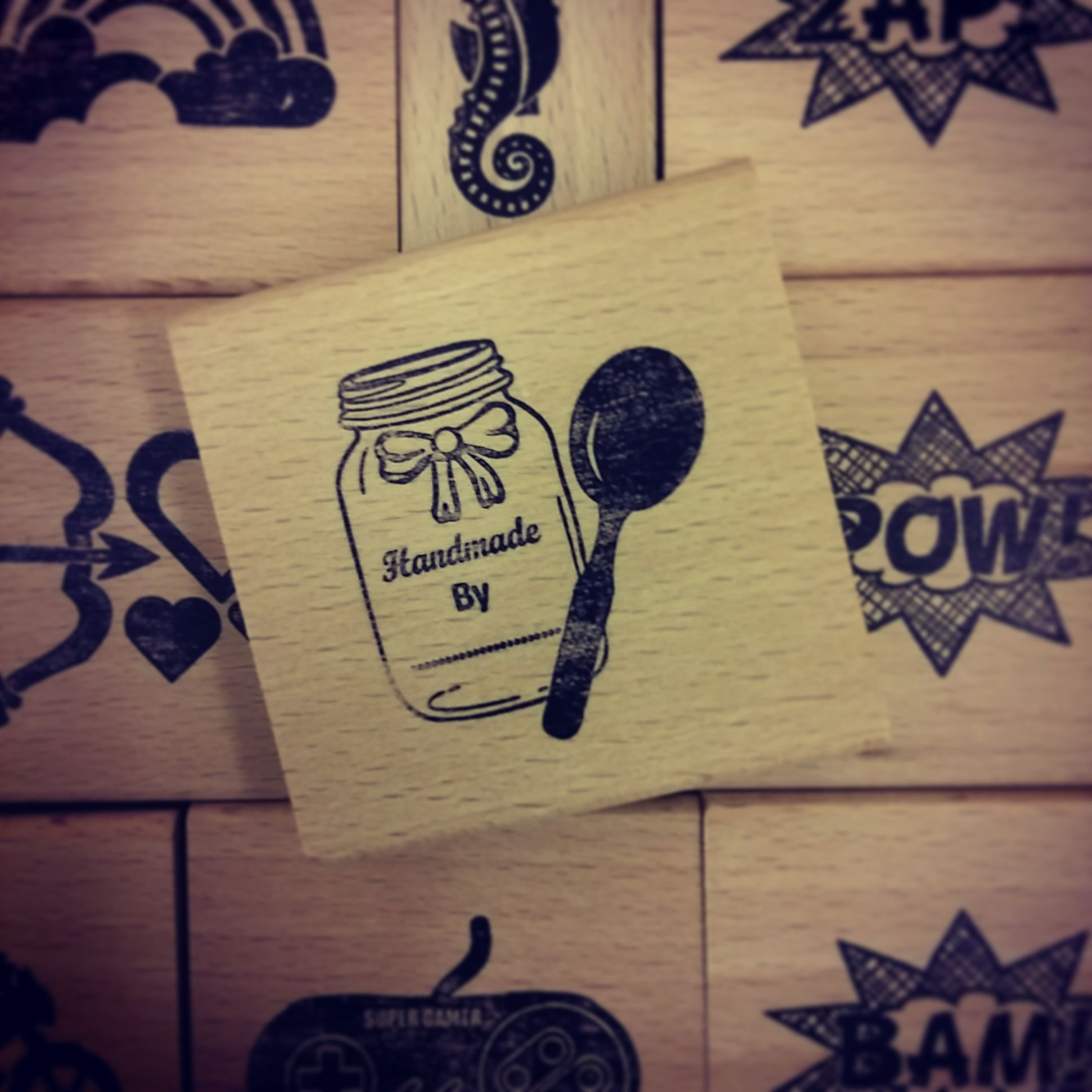 Available now in our #Etsy Store.  #Handmade #RubberStamp #EtsySeller #EtsyStore #Cardmaking #Scrapbooking #SheffieldIsSuper #FarmersMarket